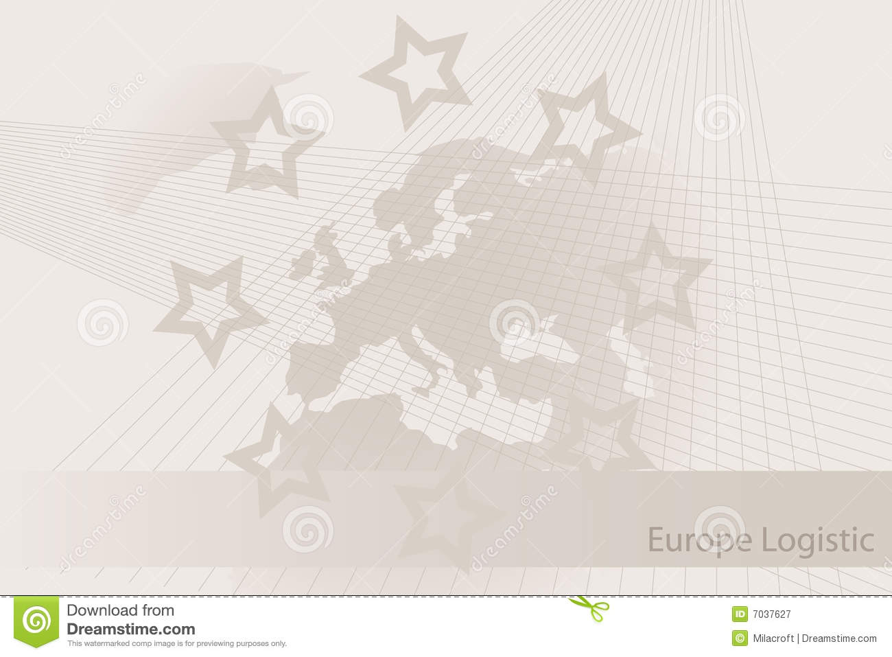 logistic europe brochure background stock vector illustration of