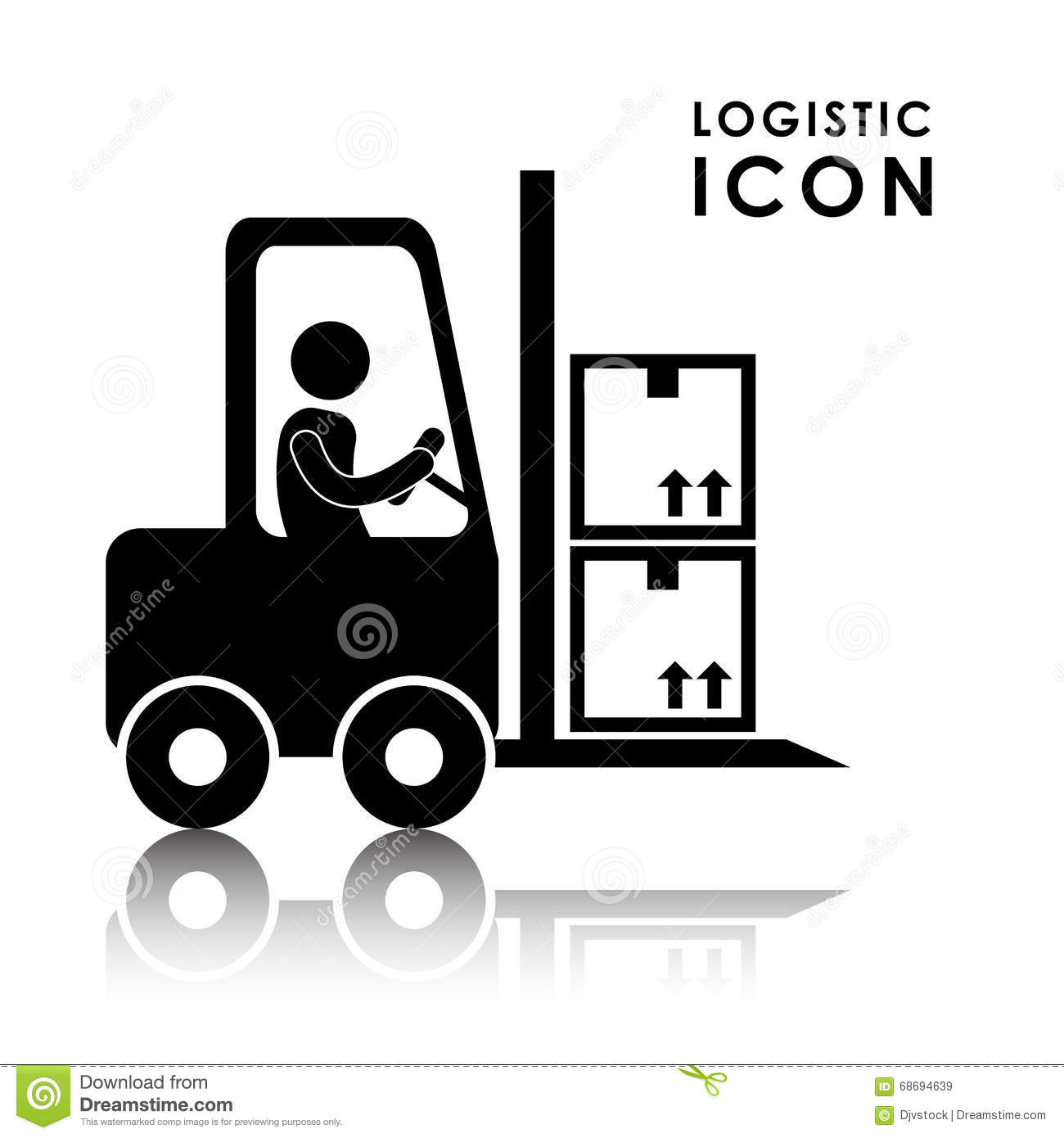 Logistic And Forklift Icon Design Stock Vector ...
