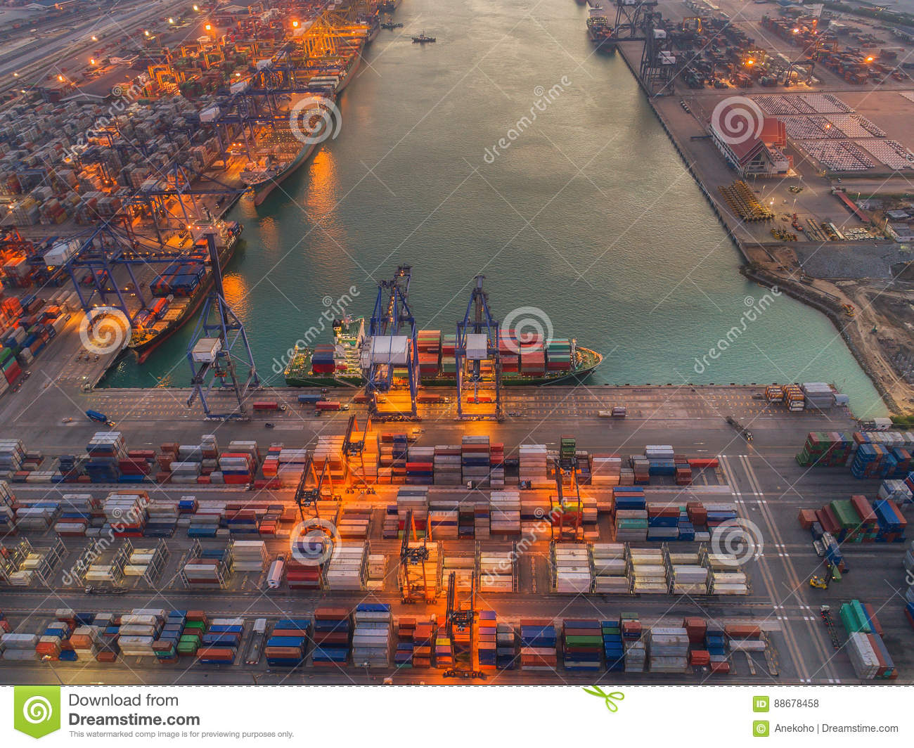 Logistic port stock photo  Image of industry, industrial