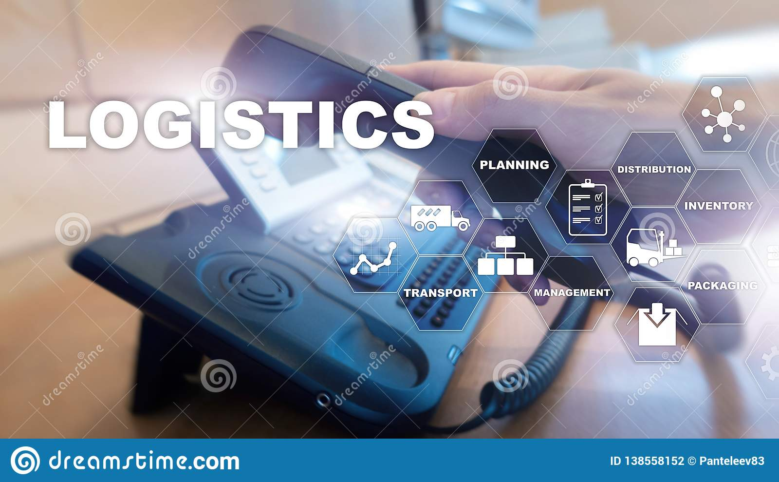 Logistic And Transport Concept  Businessman Shows Logistics