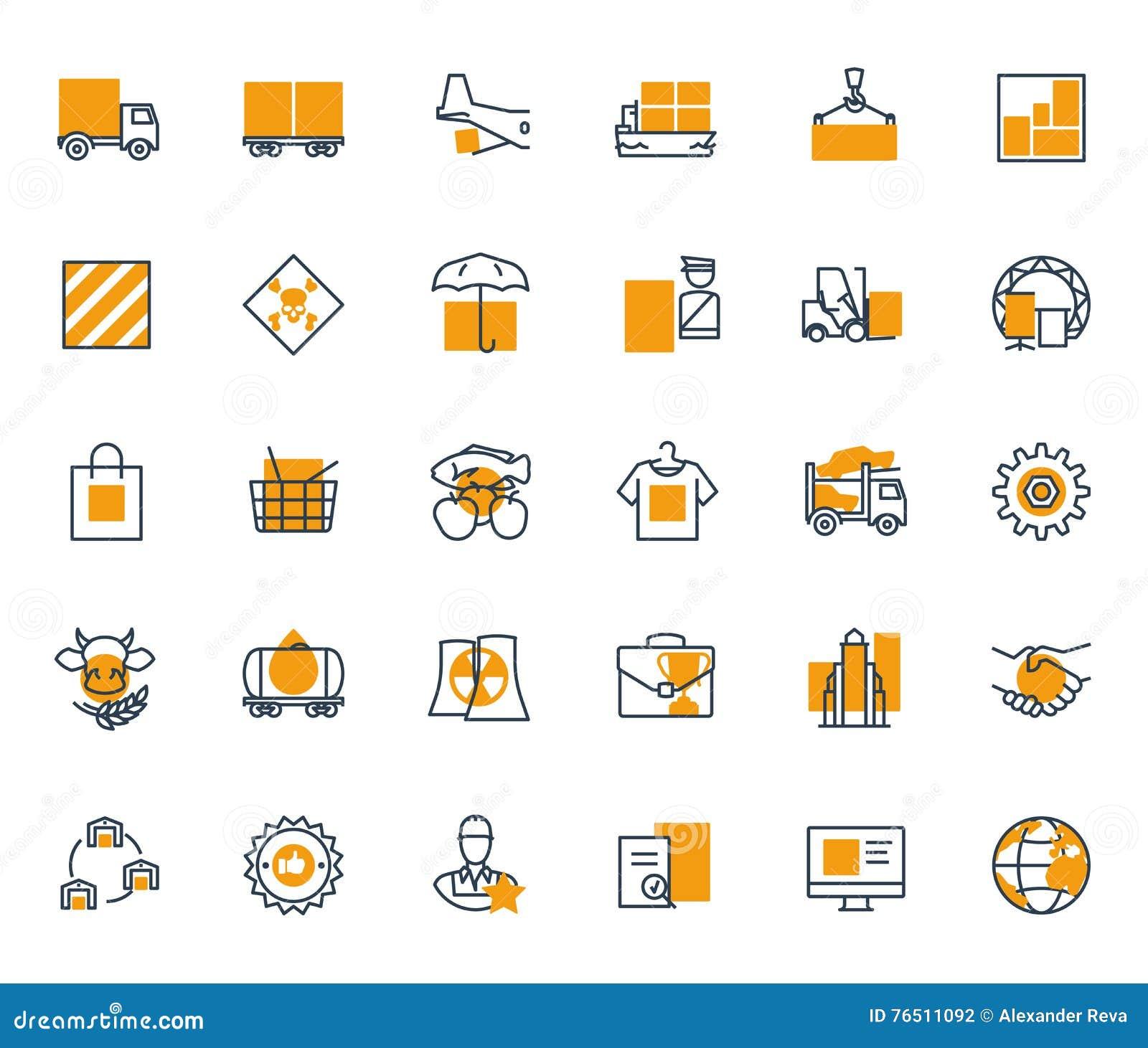 Logistics company stock vector  Illustration of retail