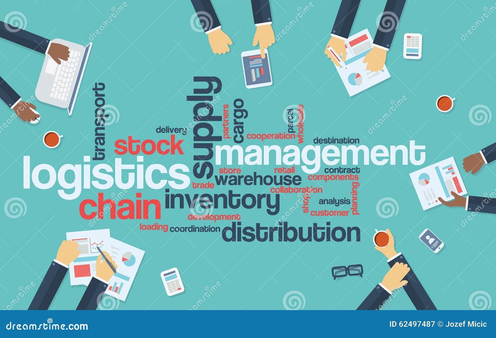 Logistics Management Business Vector Background Stock Vector ...