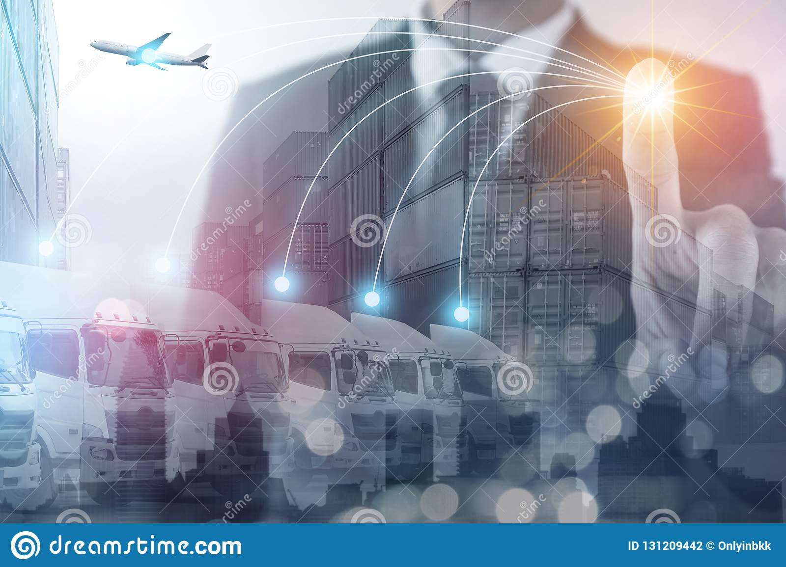 Logistics Shipping Business Concept  Stock Photo - Image of