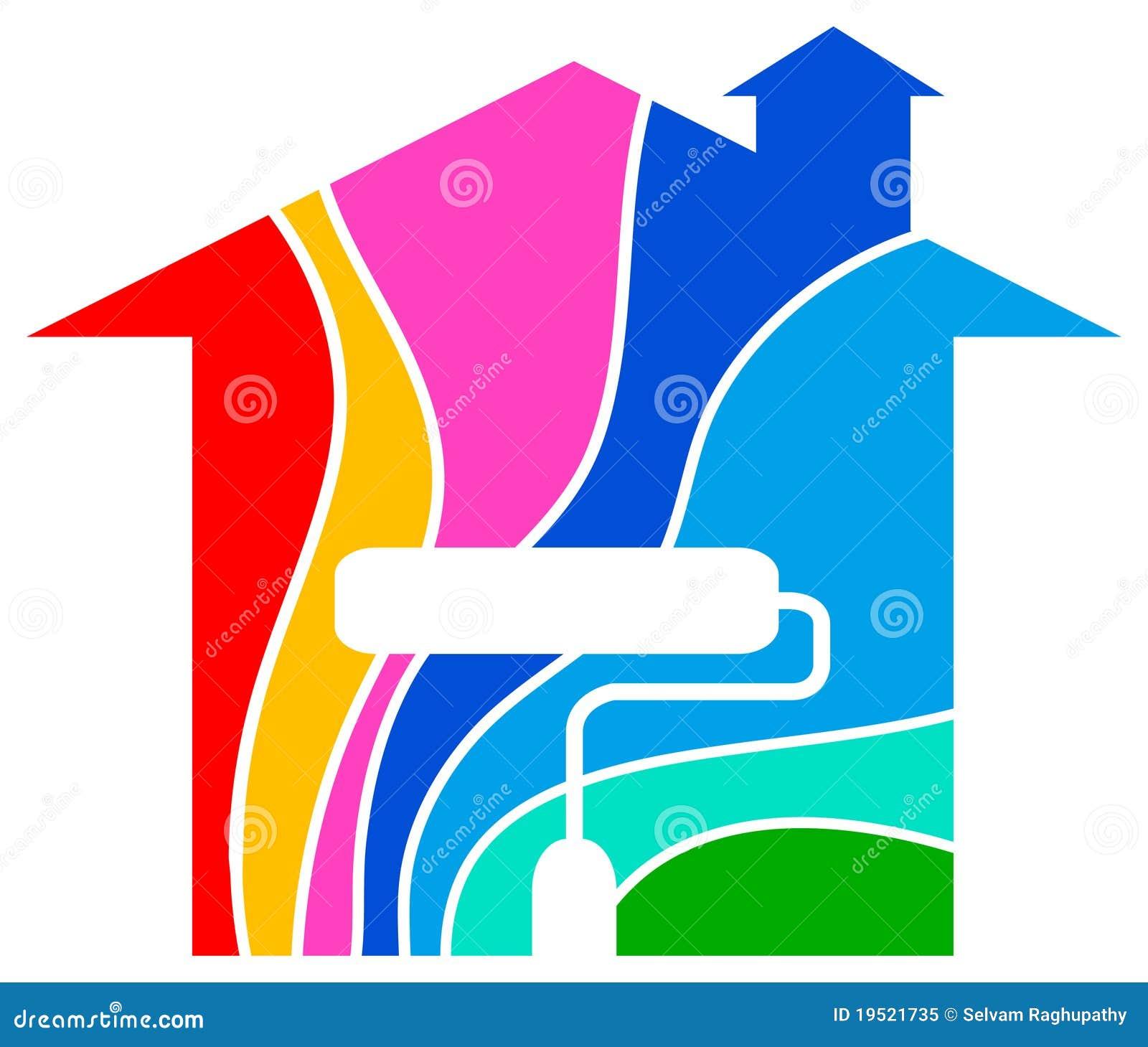 Logo la maison de peinture photo libre de droits image for La maison de la peinture