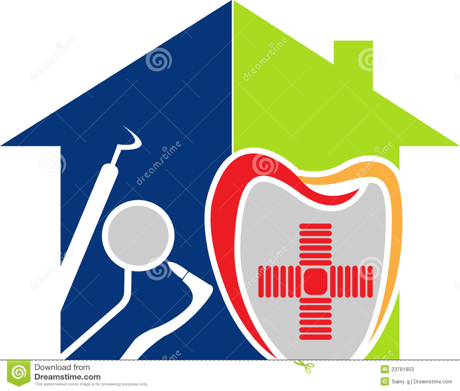 Logo à la maison dentaire