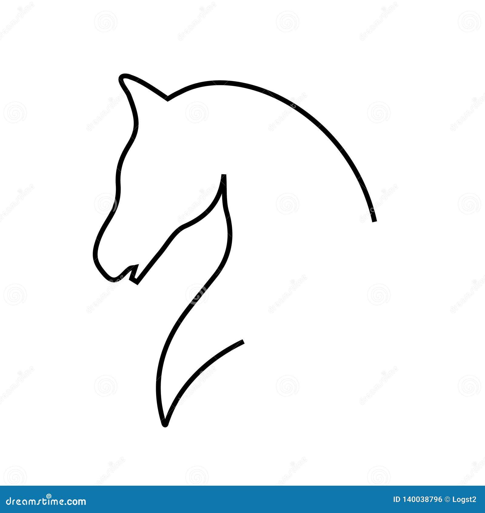 Logo équin de vecteur Logo de vecteur de cheval