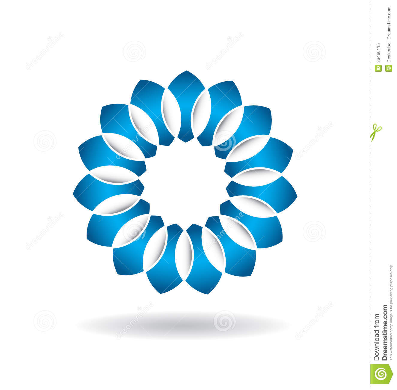 Logo abstract blue flower illustration 36466115 megapixl izmirmasajfo