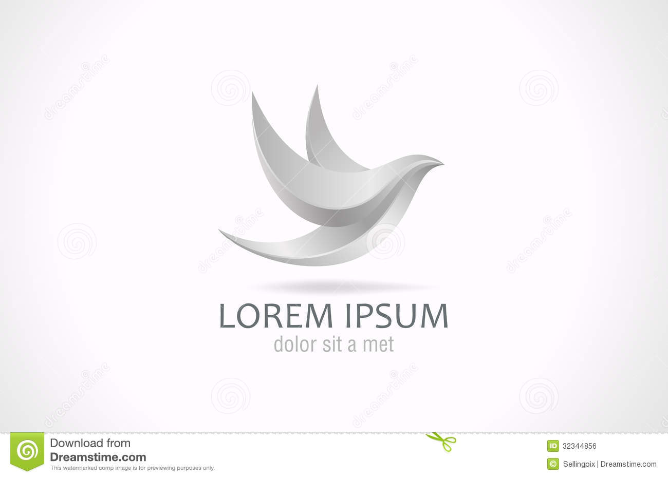 S Logo Design Logo abstract Metal Bird