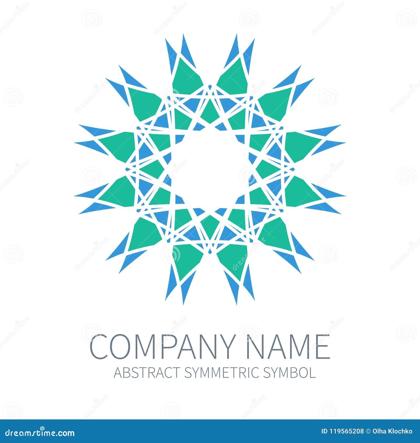 Logo abstrait de cercle de symétrie Harmony Polygon Form Signes et symboles  créatifs Calibre de Logotype 692c8ef173f7