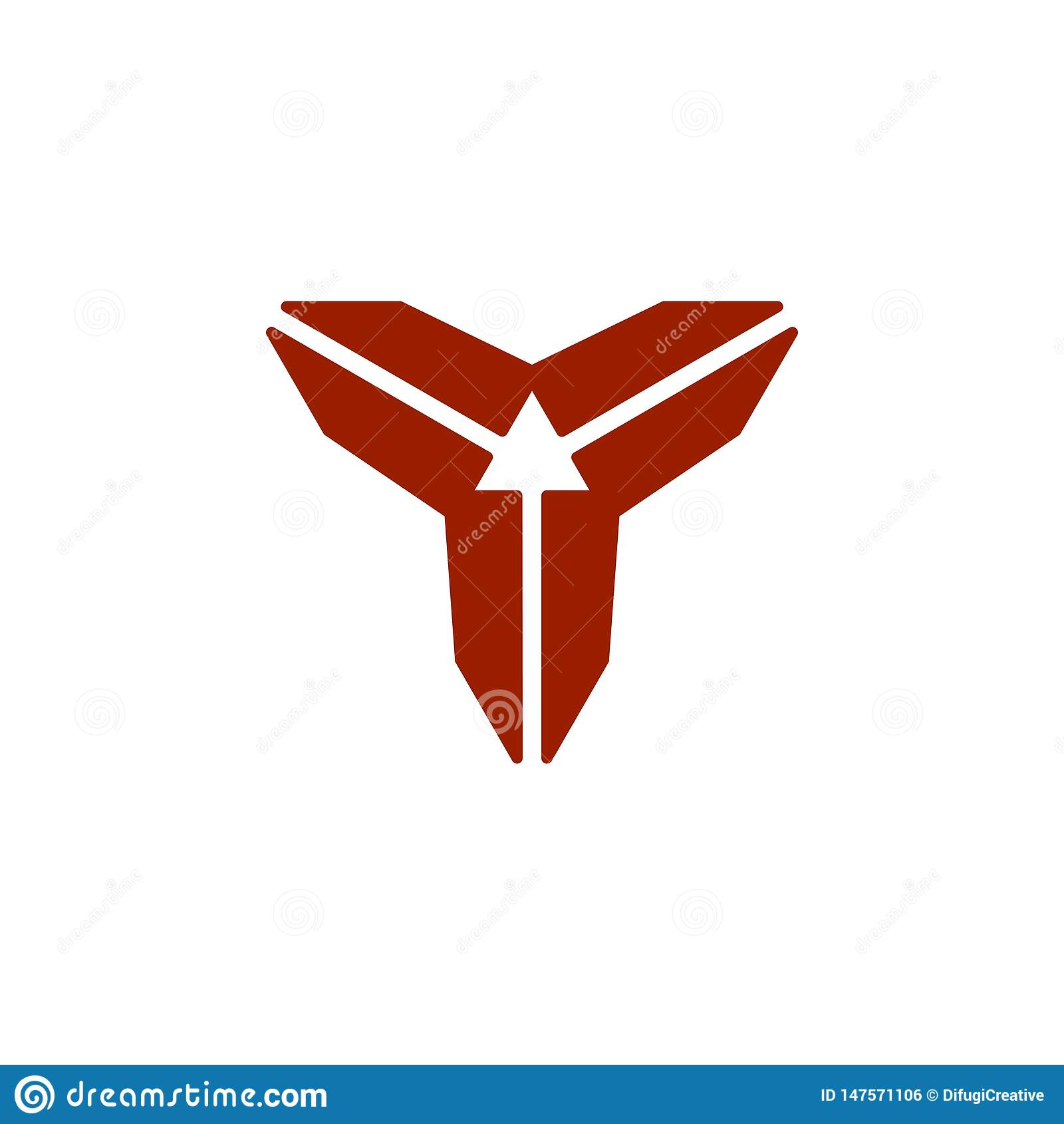Logo abstrait de direction de la lettre 3 de Y