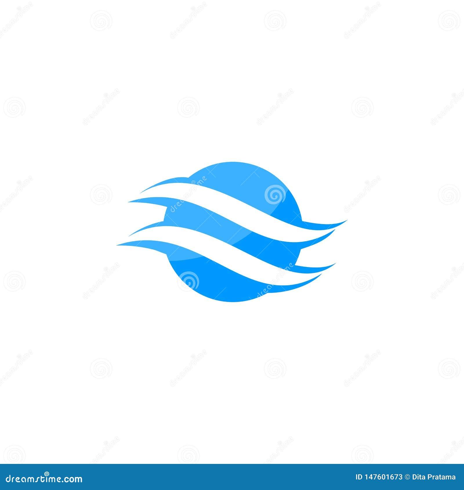 Logo abstrait de globe de lettre de S