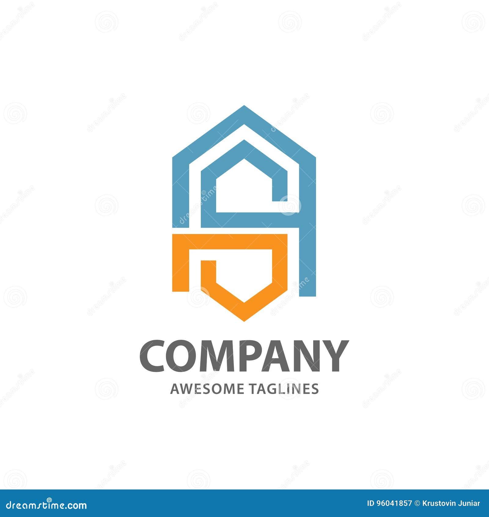 Logo abstrait de lettre SA