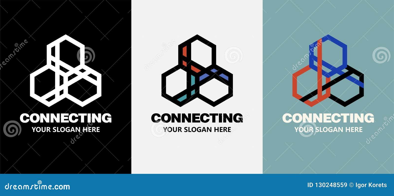 Logo abstrait de société commerciale Élément de conception d identité d entreprise Technologie, idée sociale de Logotype de media
