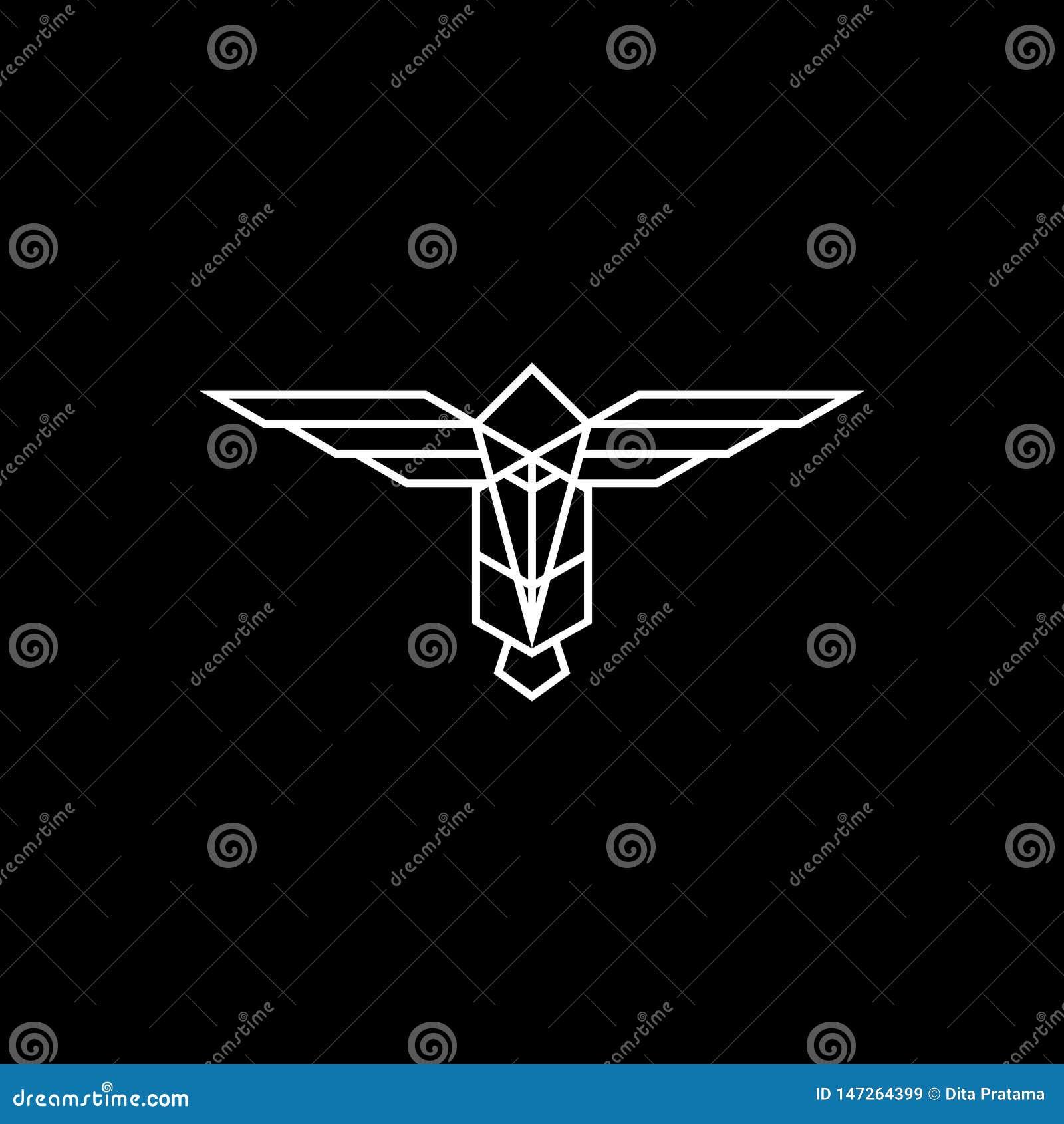 Logo abstrait de totem