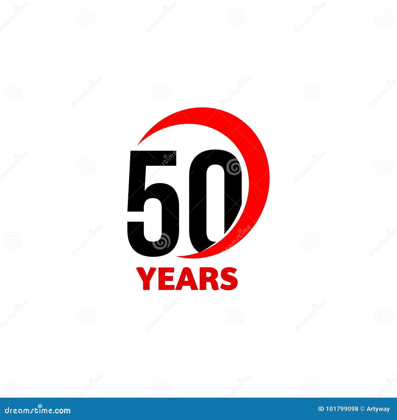 Logo Abstrait De Vecteur De Cinquantieme Anniversaire Icone De Jour