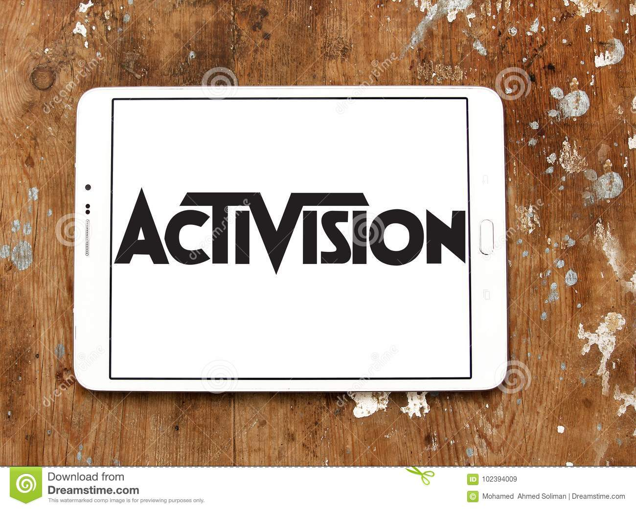 Activision company logo editorial stock image  Image of