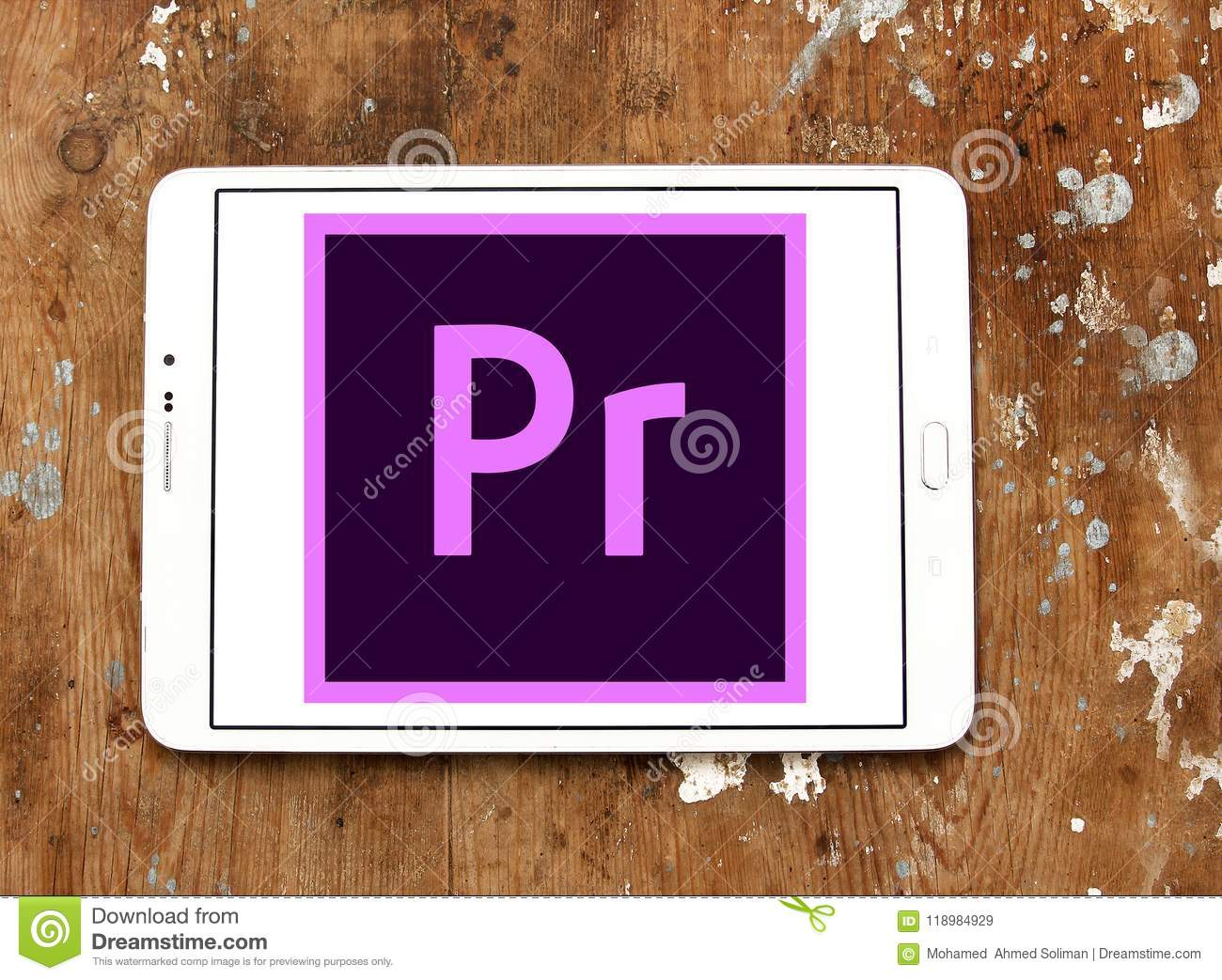 Adobe Premiere Pro logo editorial stock image  Image of application