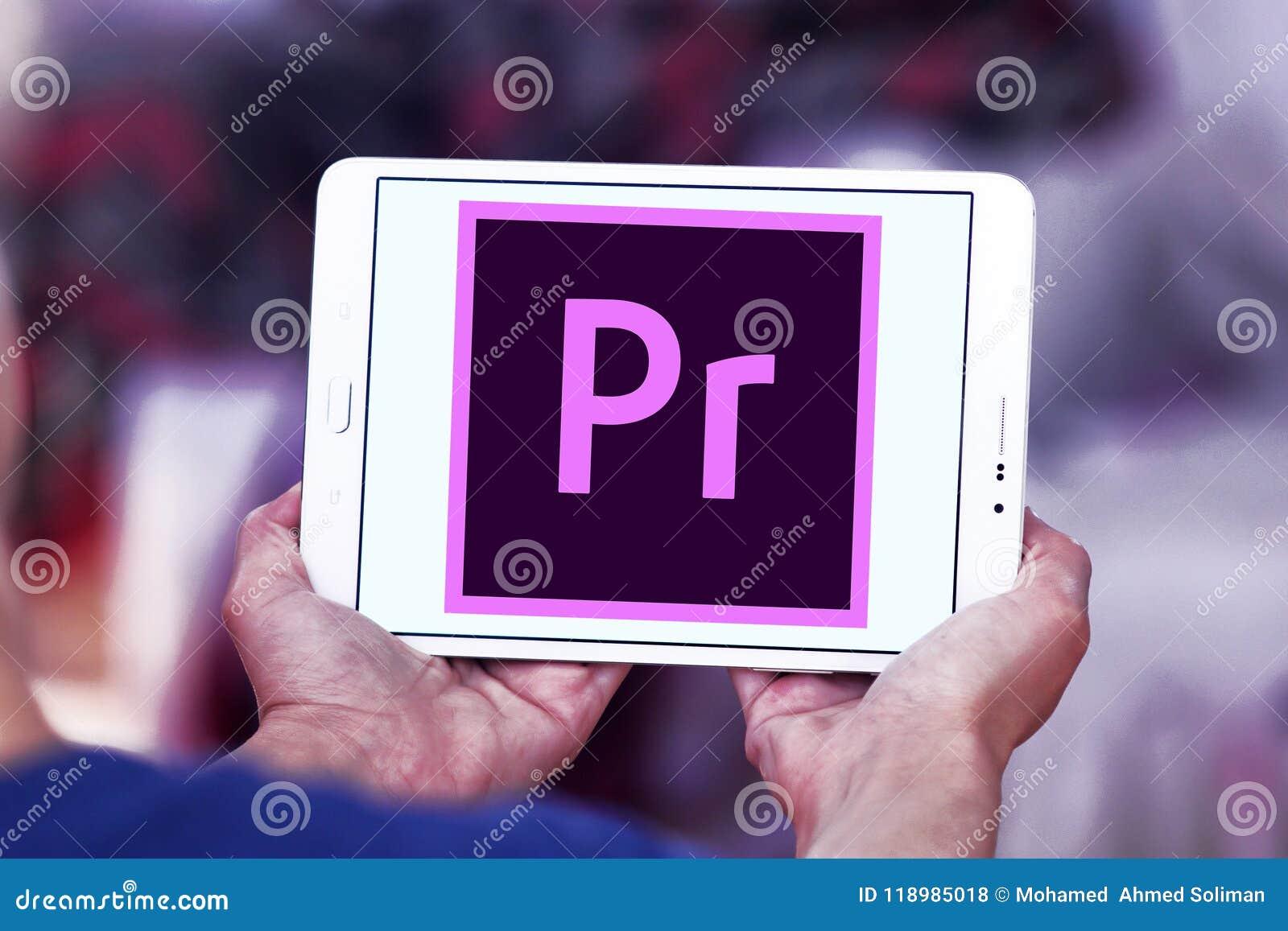 Adobe Premiere Pro logo editorial stock photo  Image of sign - 118985018