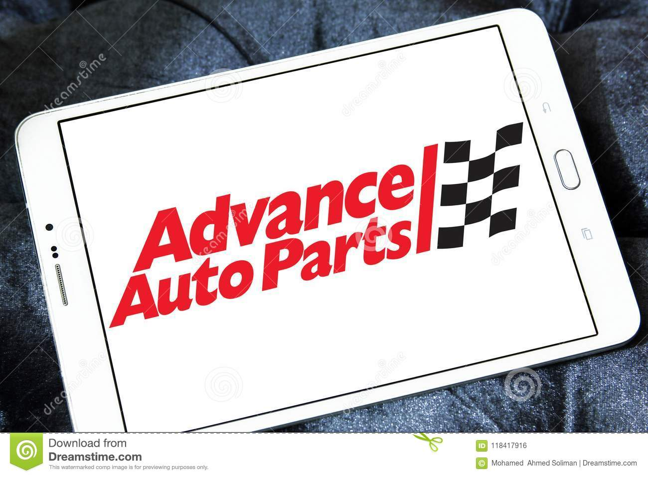 Logo of Advance Auto Parts on samsung tablet. Advance Auto Parts is a  retailer of automotive parts and accessories in the United States