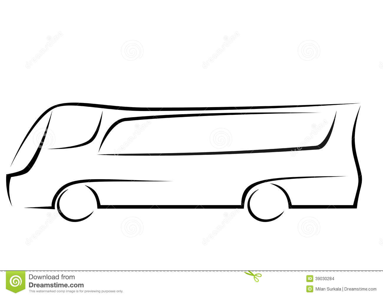 Logo Of A Aerodynamic Bus Stock Vector - Image: 39030284