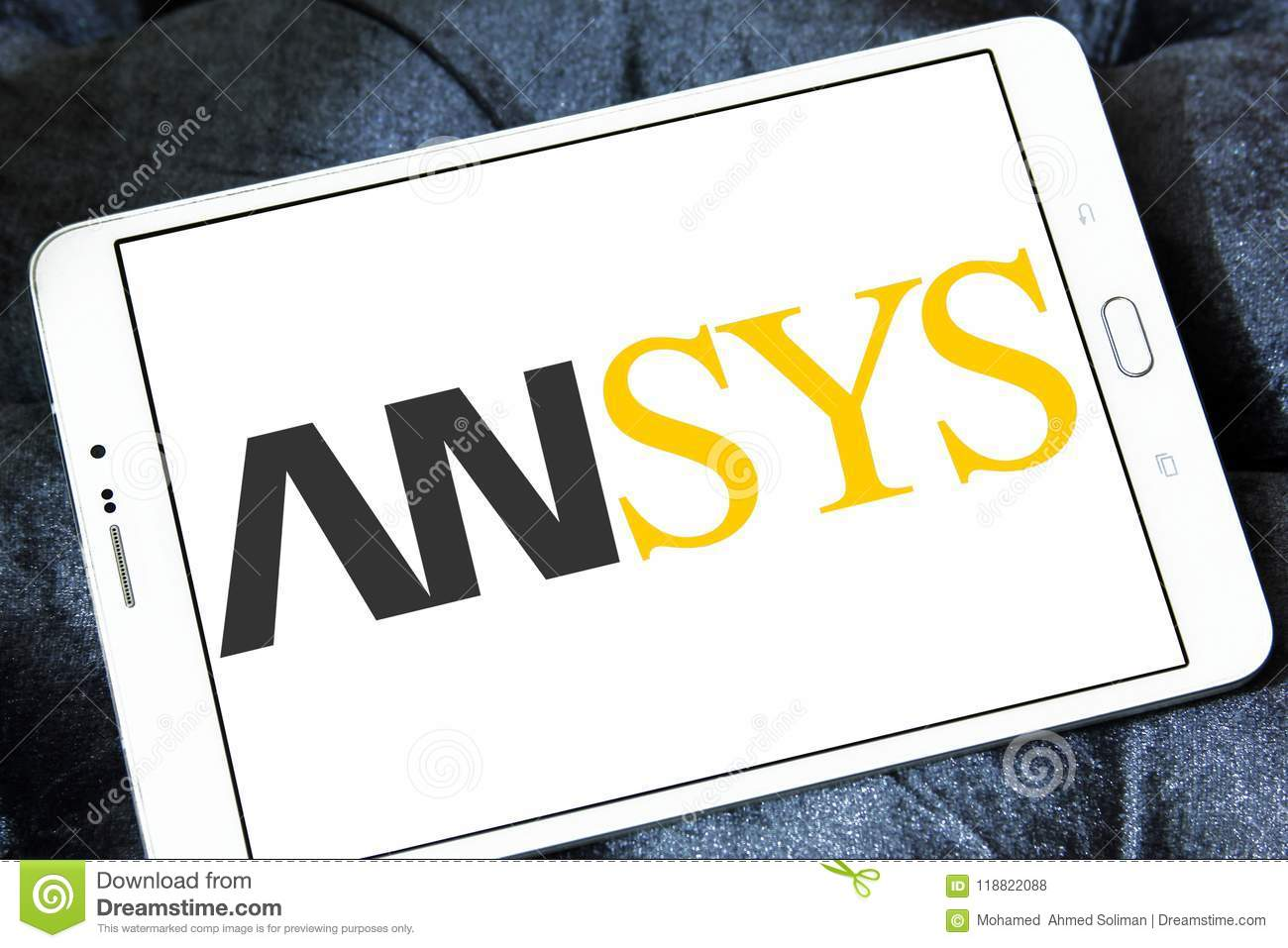 Ansys Software Company Logo Editorial Stock Photo - Image of