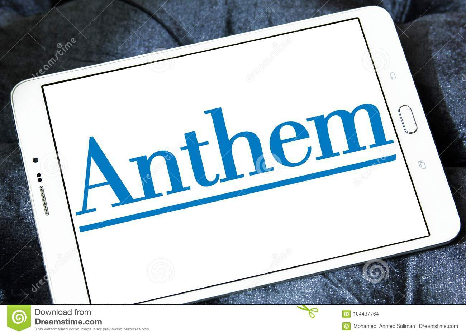 Anthem Health Insurance Company Logo Editorial Stock Image ...