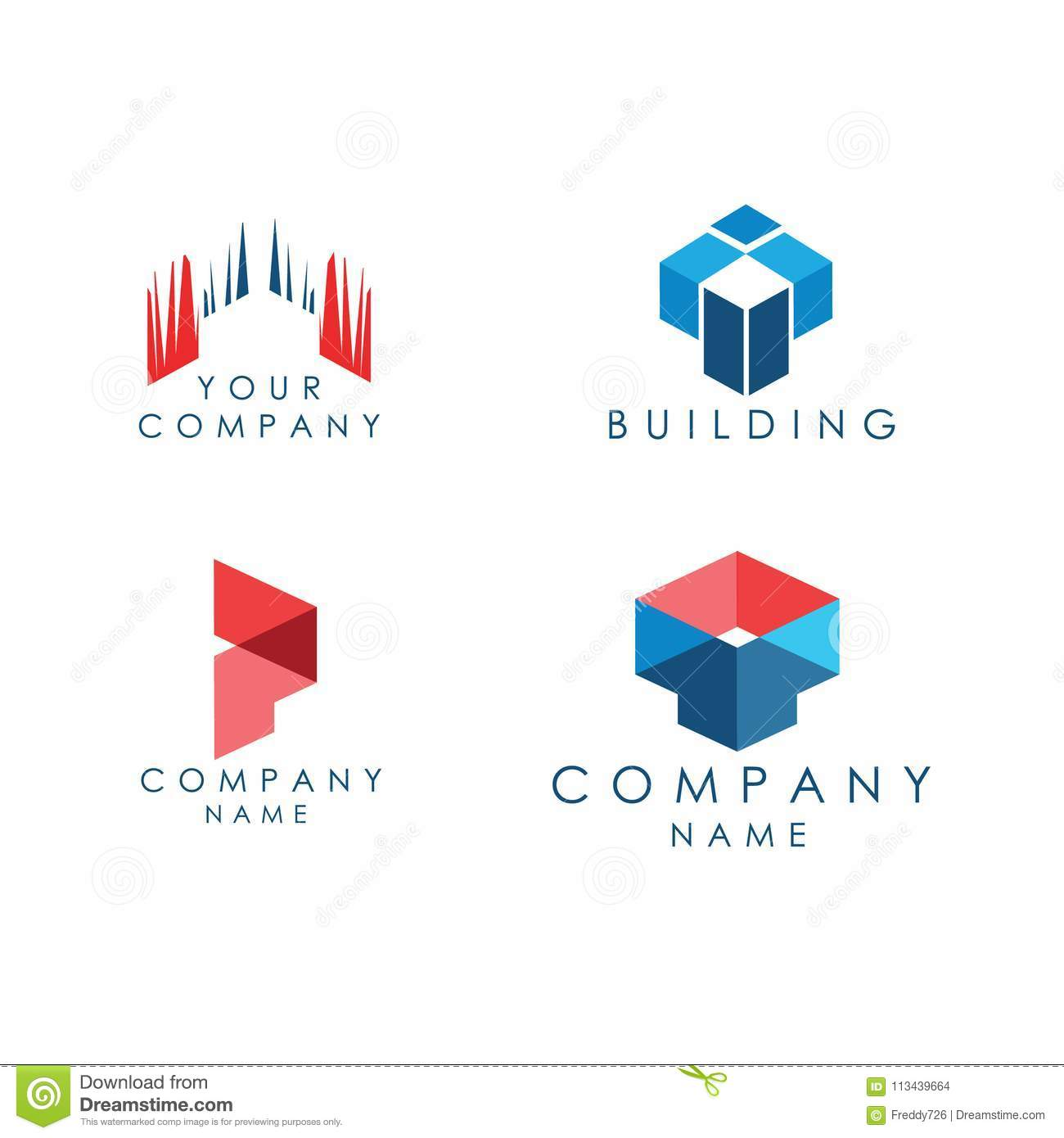 Dreams Construction Company: Logo Architecture And Construction Company Stock Vector