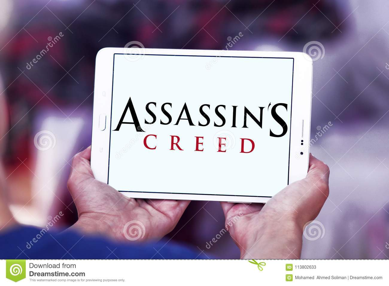 Assassin`s Creed Video Game Logo Editorial Stock Photo