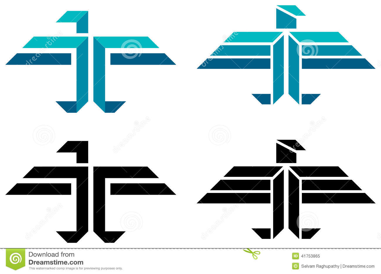 Logo astratto dell uccello