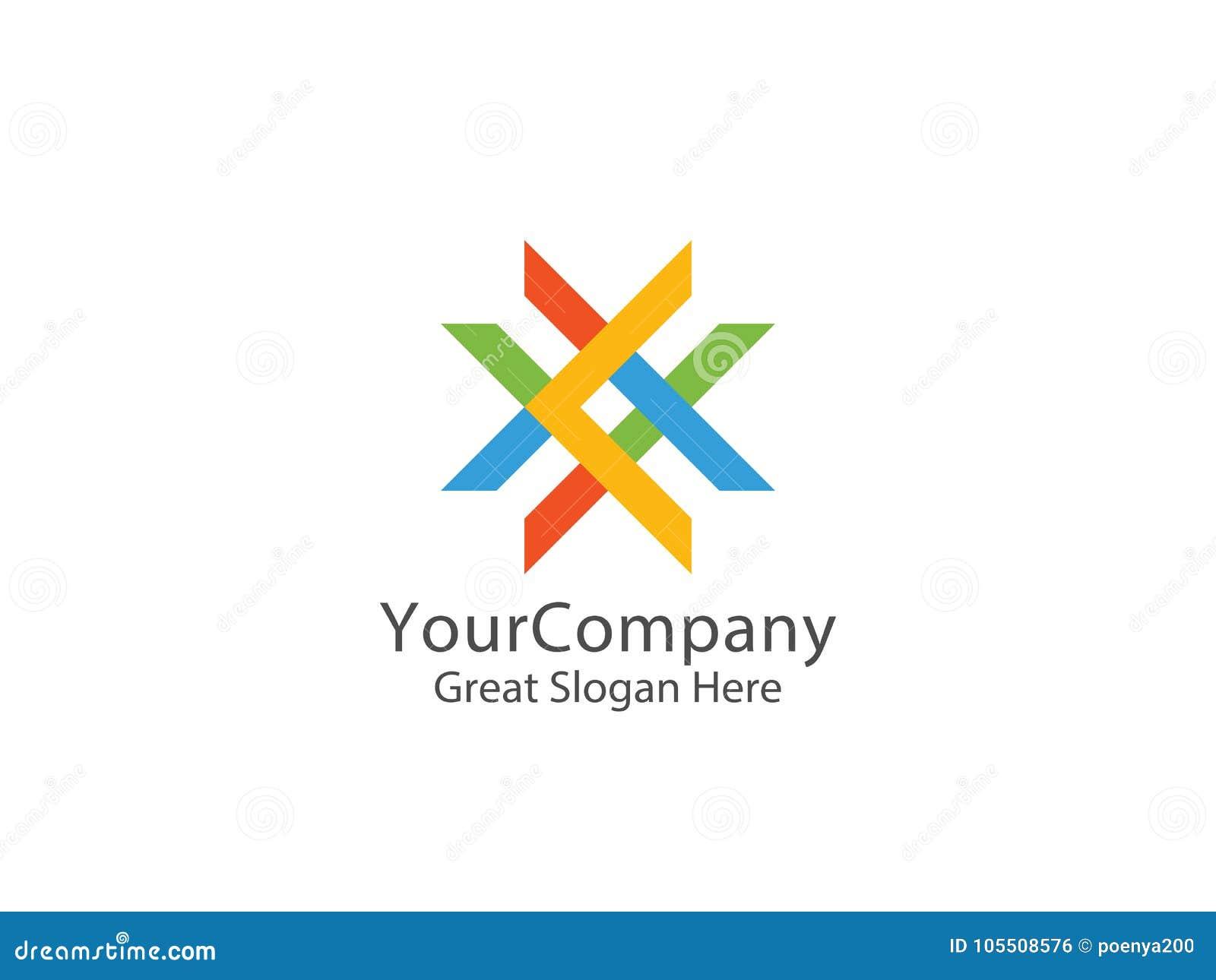 Logo astratto della lettera X concetto astuto di simbolo di istruzione