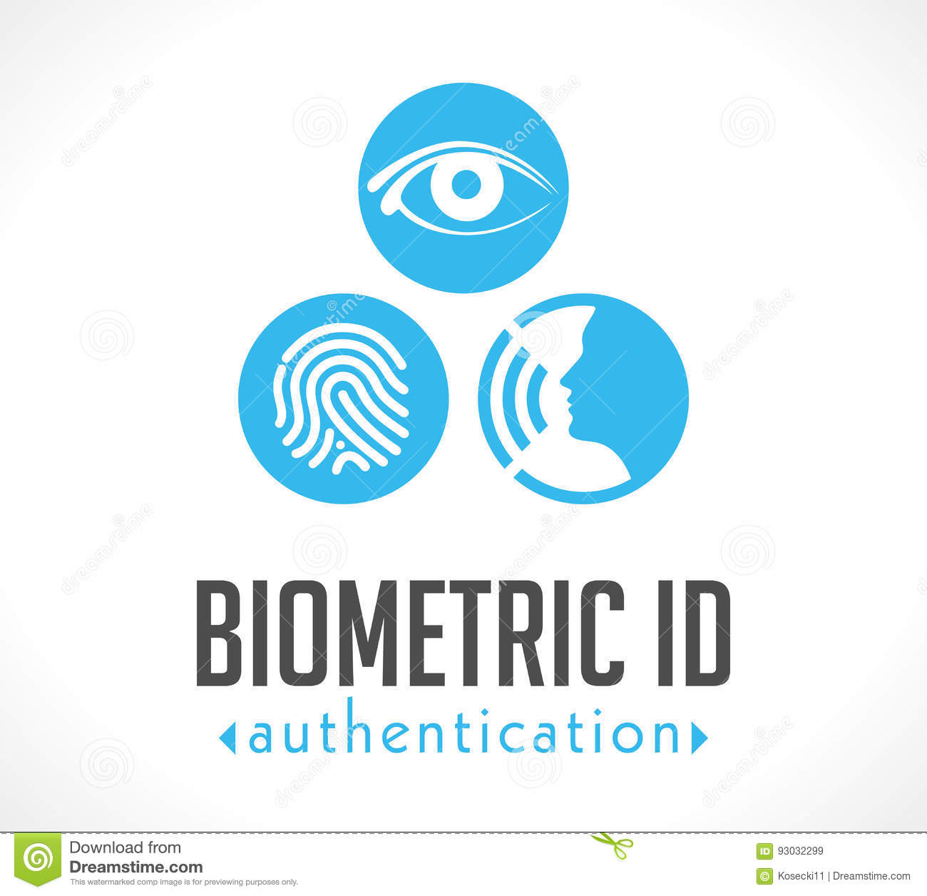 Logo - authentification biométrique d identification