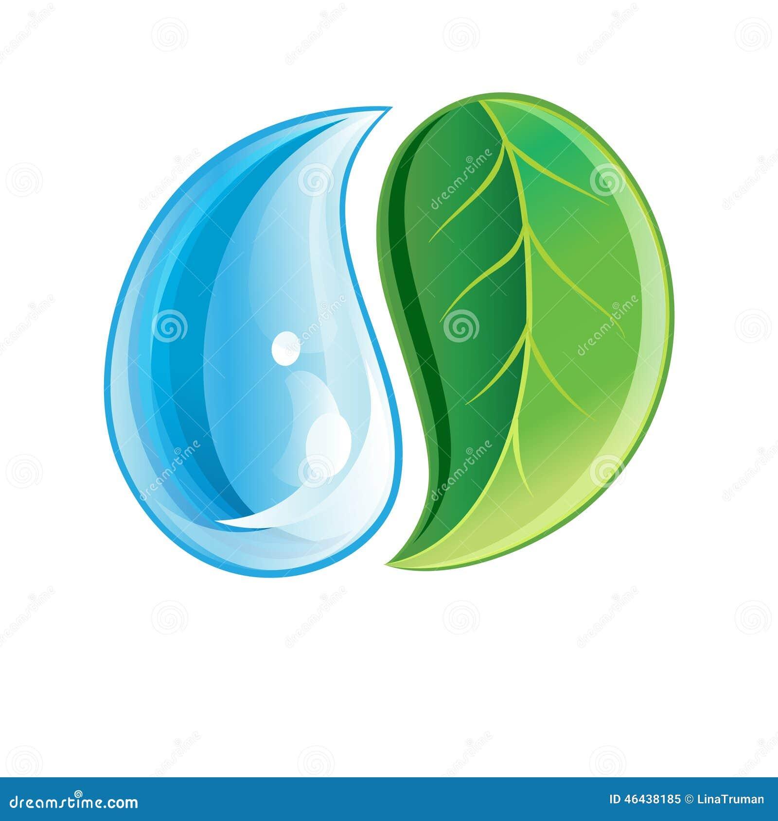 foto de Logo Avec La Feuille Verte Et La Baisse Illustration de