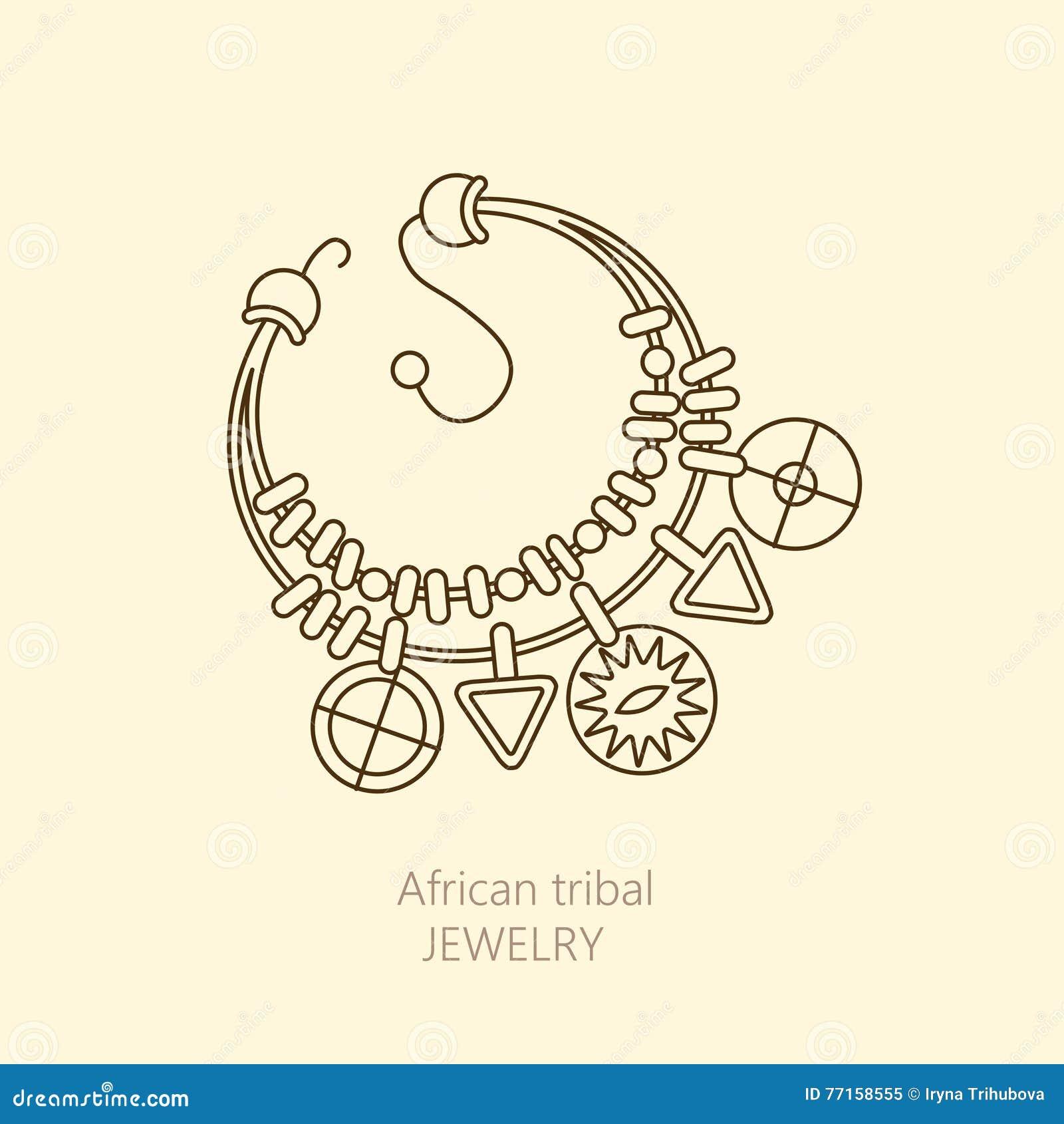 Logo avec le collier africain national