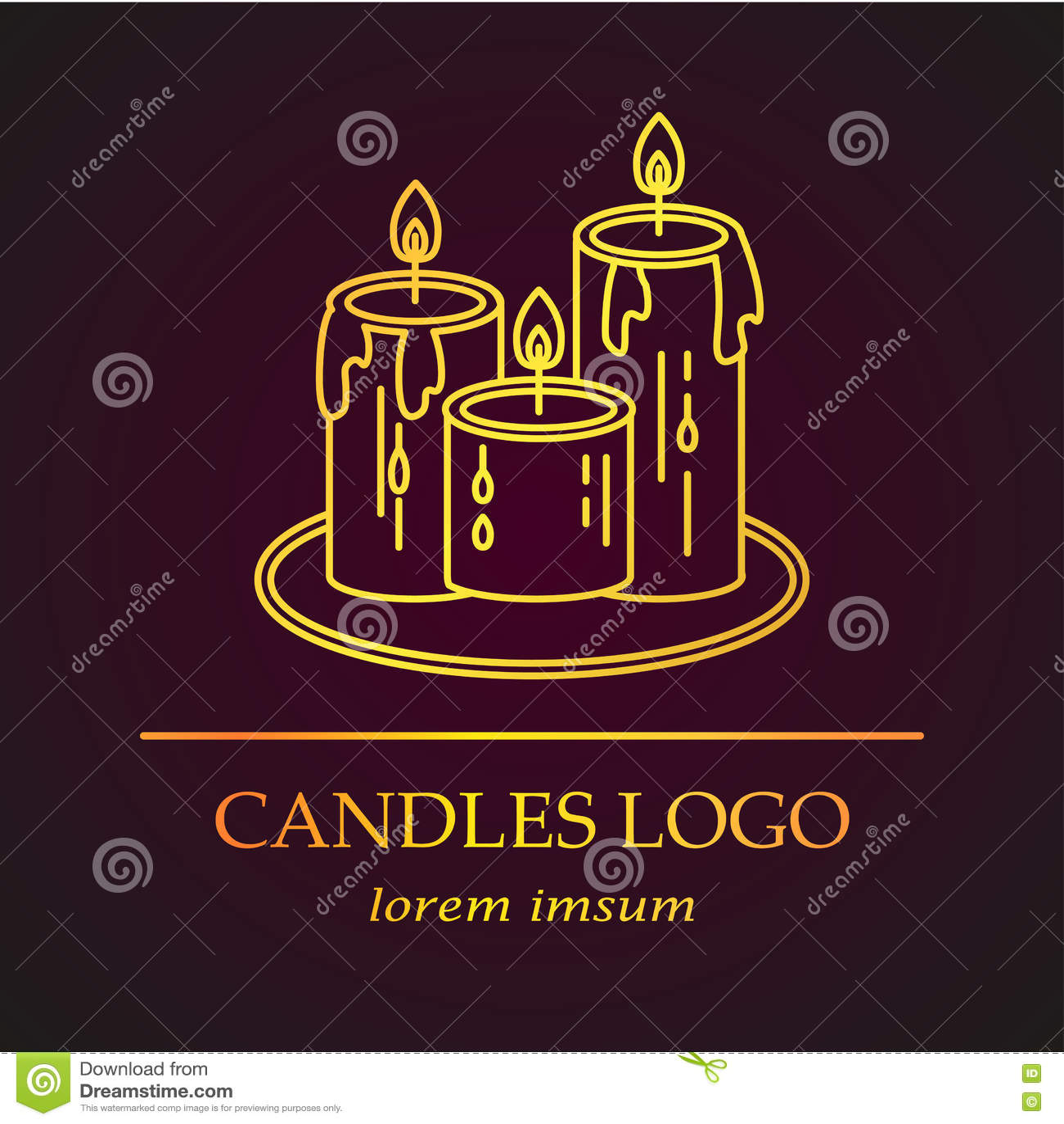 Logo avec les bougies d or