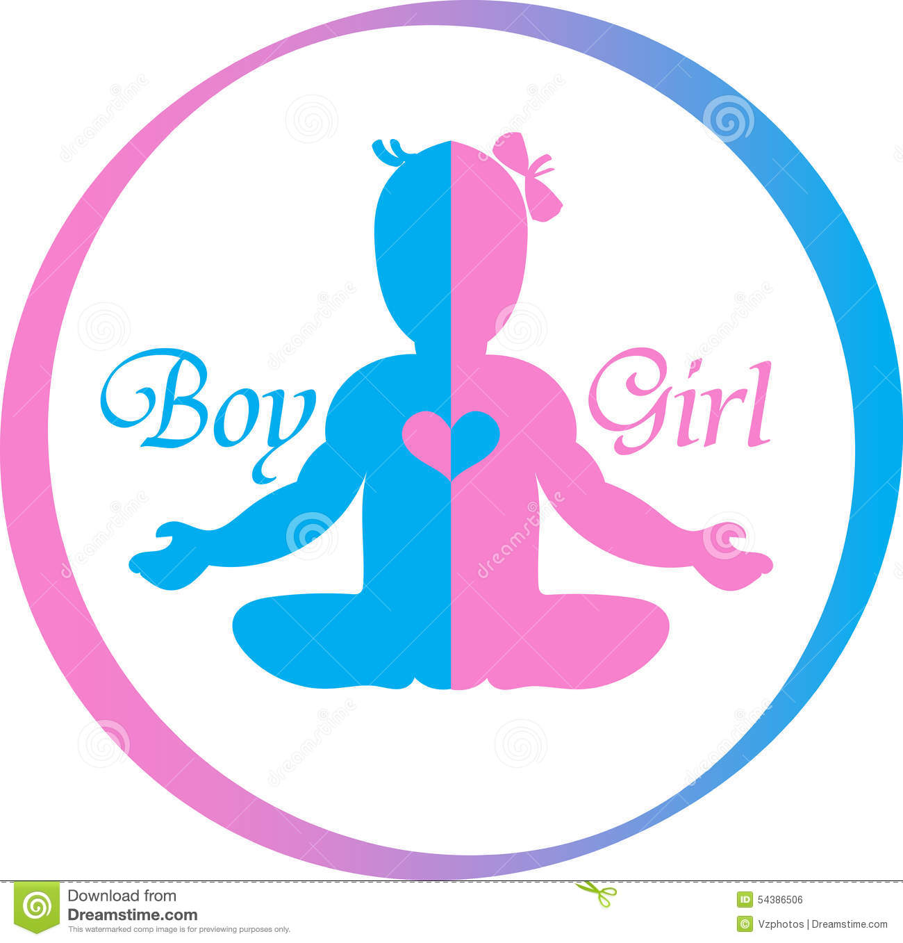 Logo Baby Boy And Girl Stock Vector Illustration Of Pediatrics