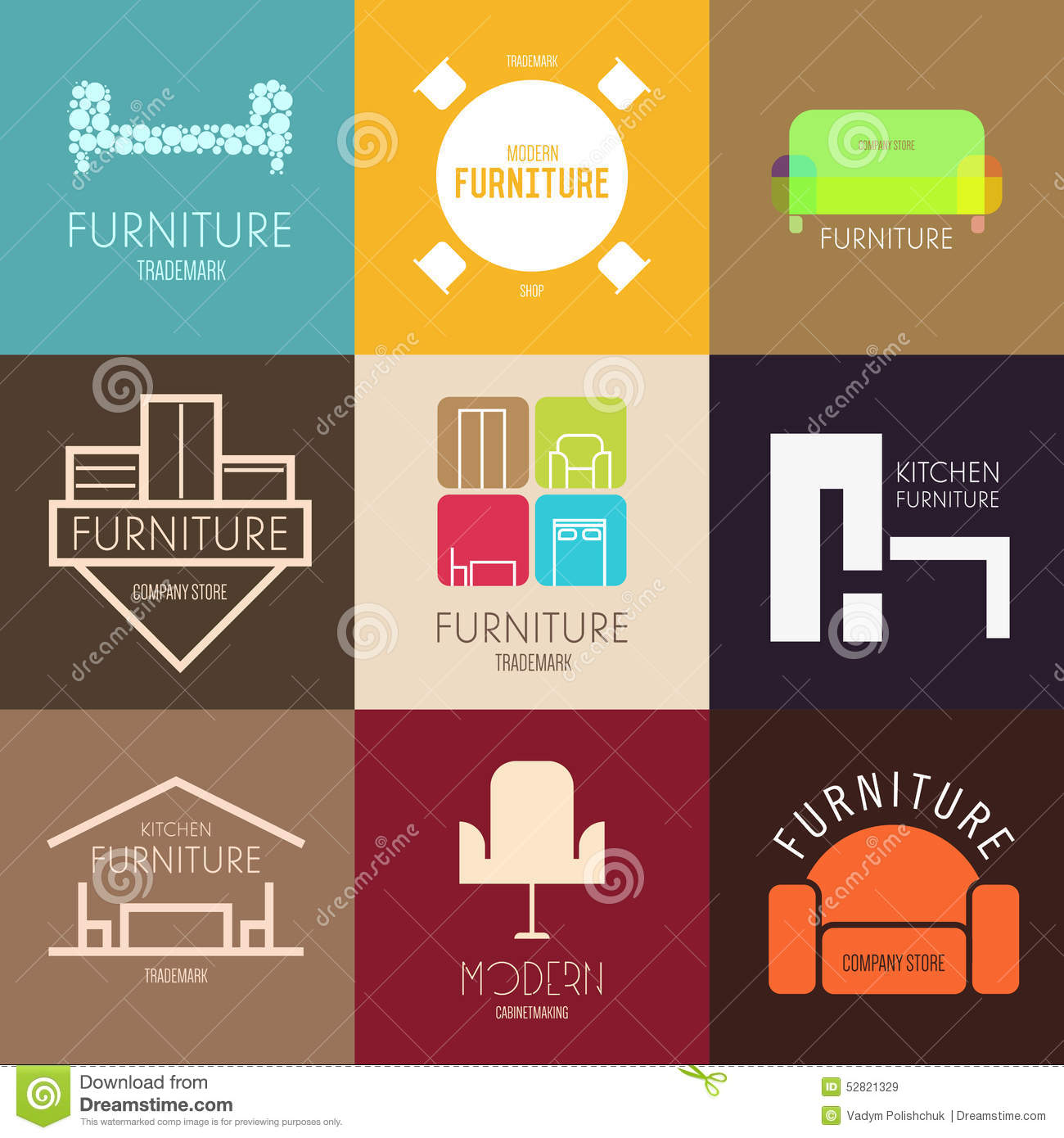 Logo badge or label inspiration with furniture for shops for Furniture companies