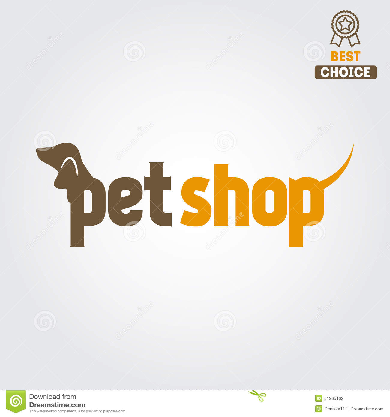 logo badge or label for pet shop or veterinary stock
