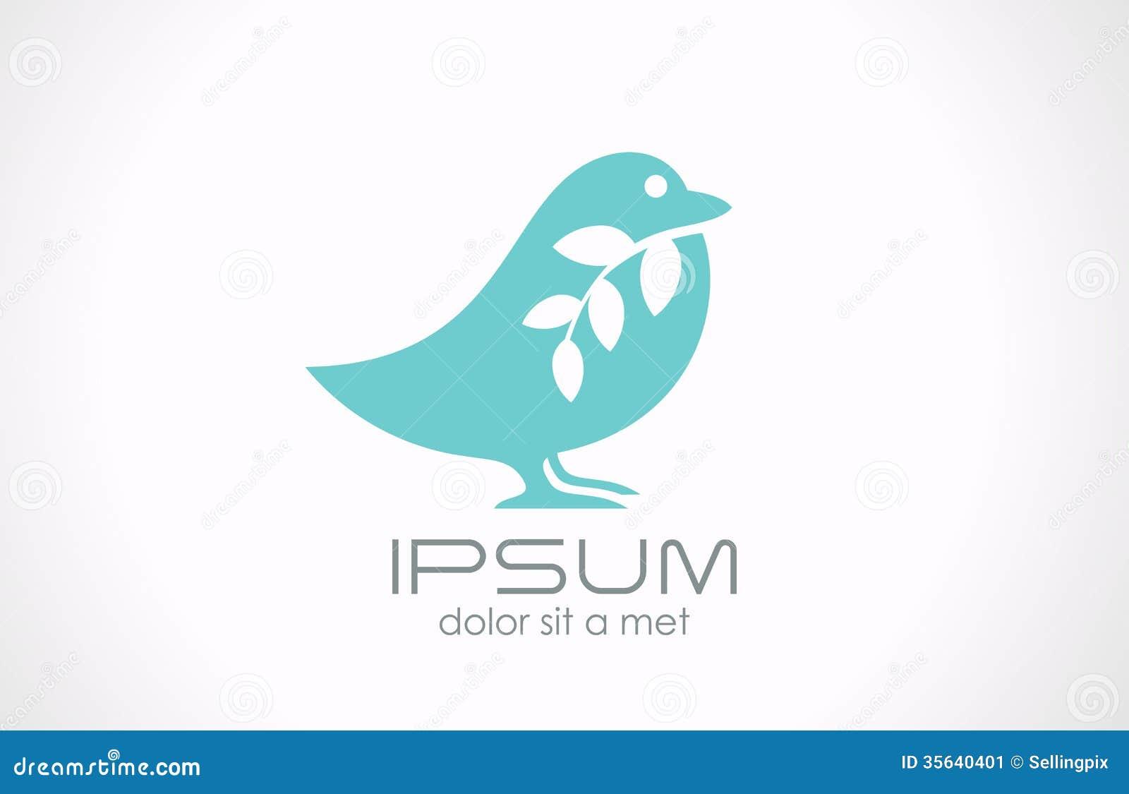 Logo Bird Abstract Vector Creative Medicine Health Stock