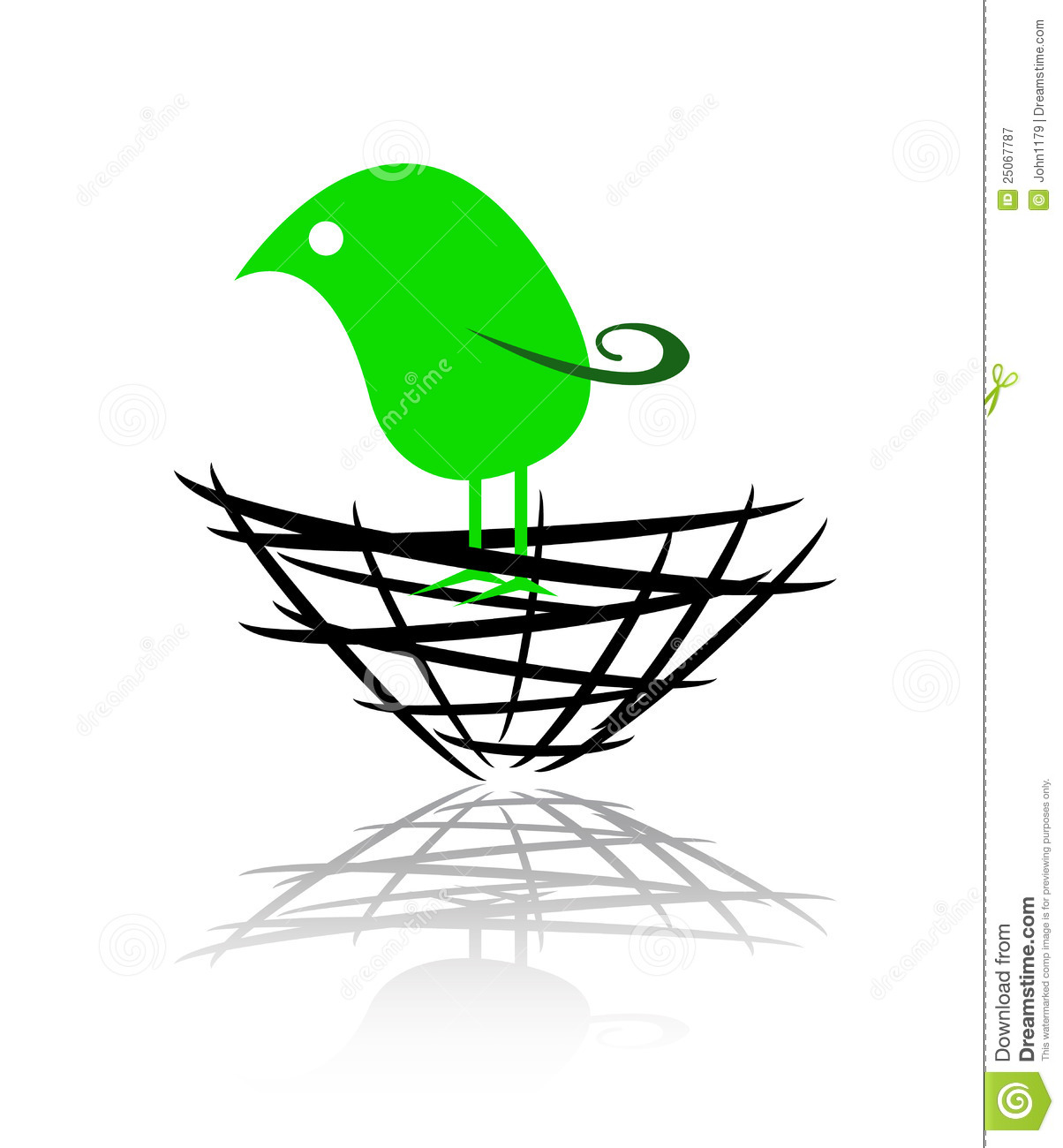 Logo Of A Bird In The Nest Royalty Free Stock Photography - Image ...