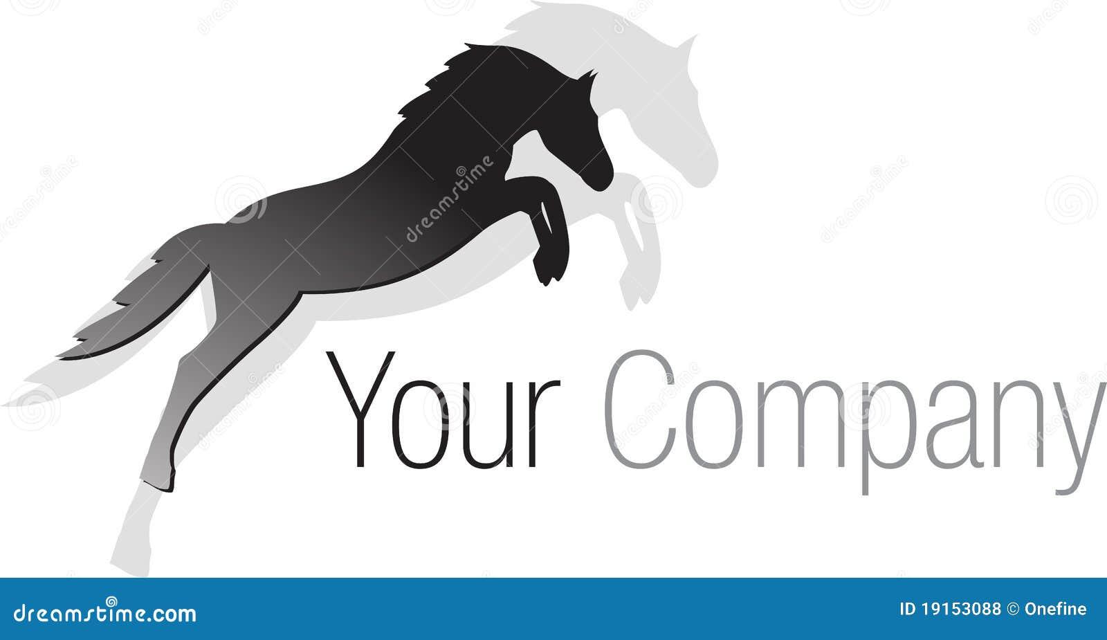 Logo Black Jumping Horse Stock Vector Illustration Of Black 19153088