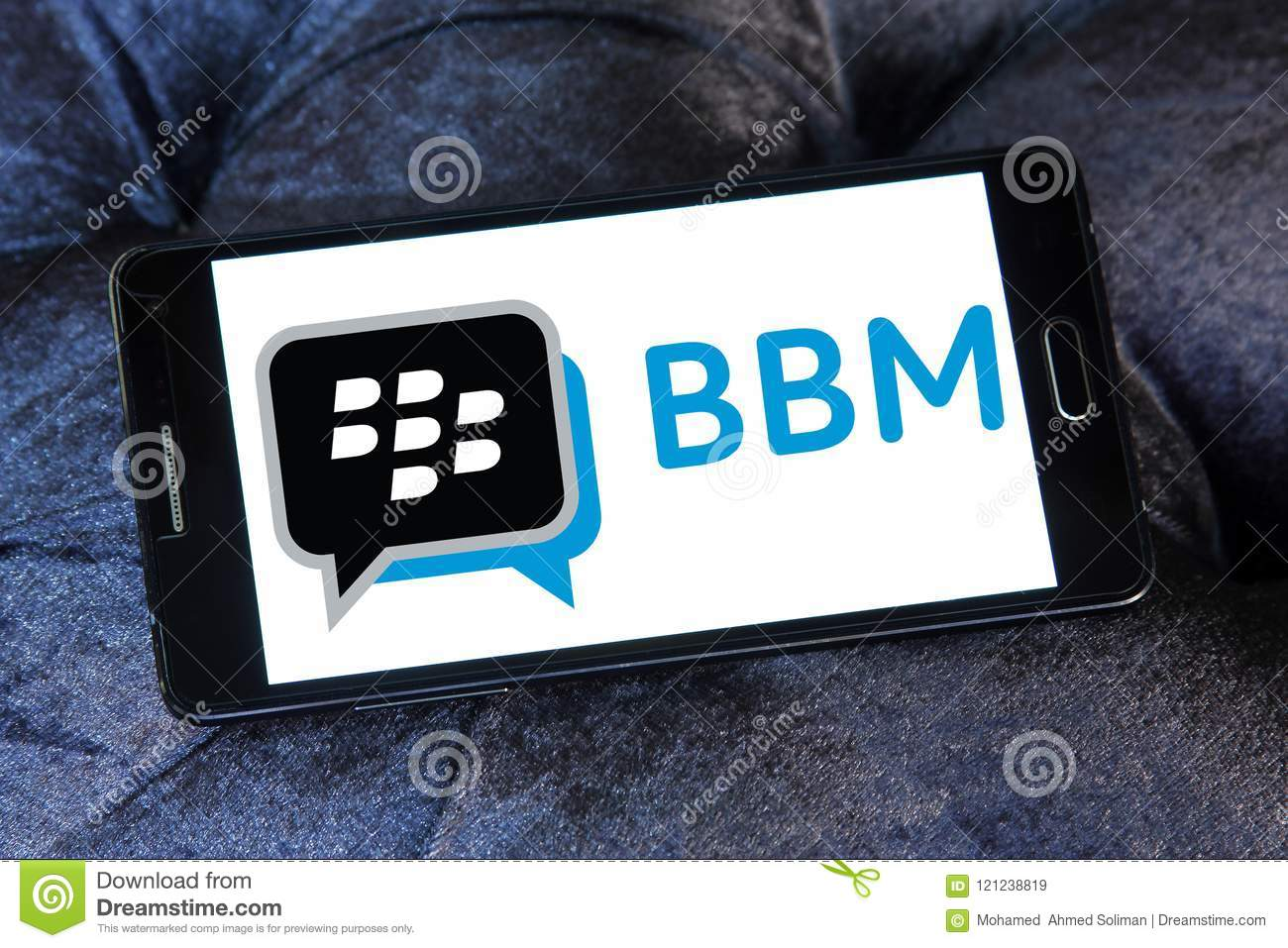 Blackberry Messenger Bbm Logo Editorial Stock Image Image Of