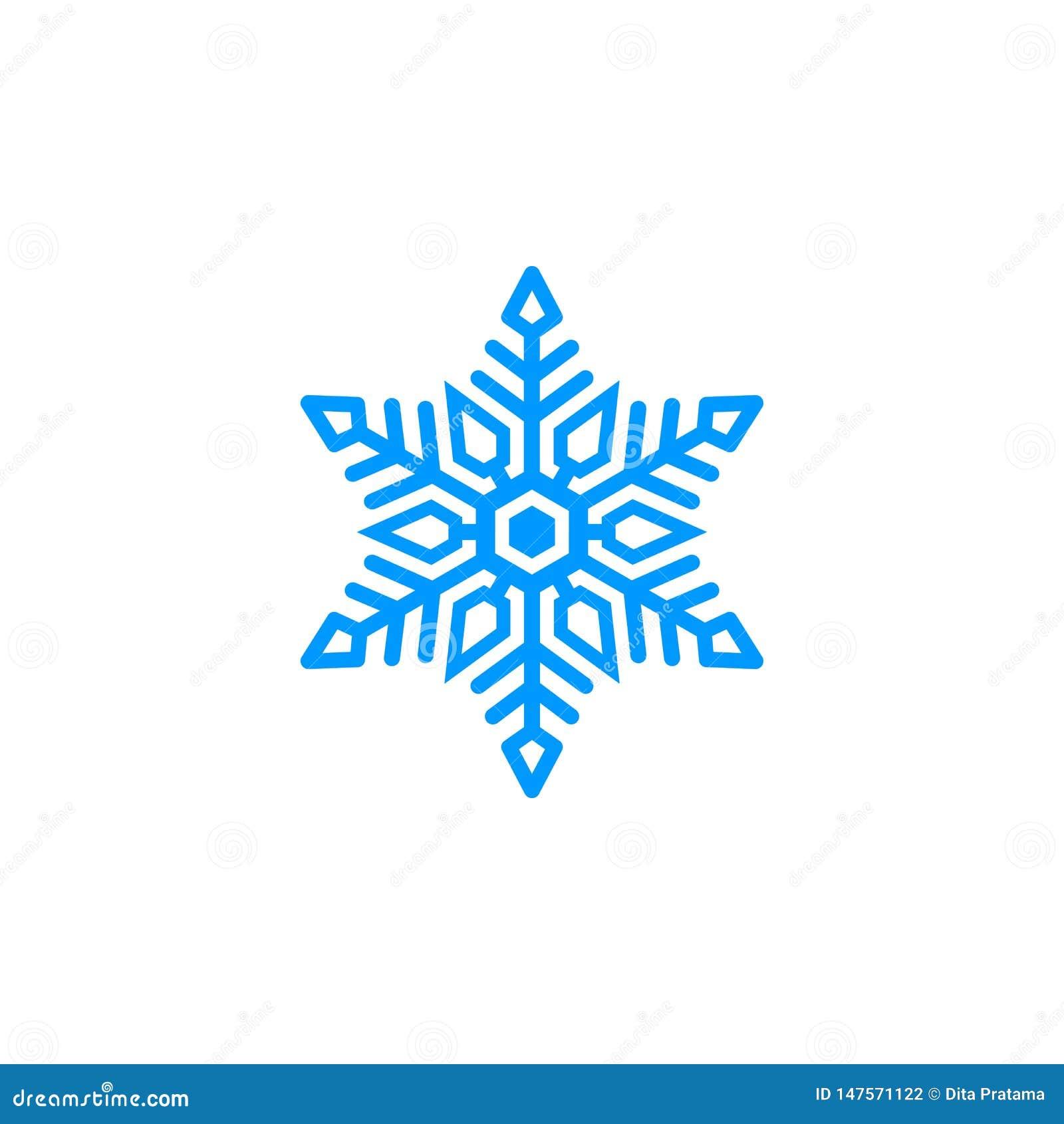 Logo blu unico della neve