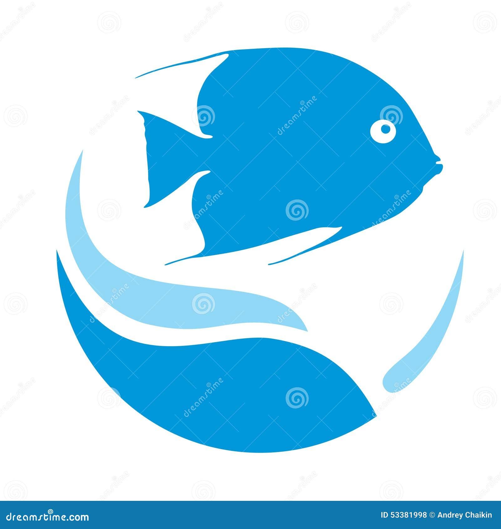Logo fish cartoon vector 50193797 for Blue fish aquarium