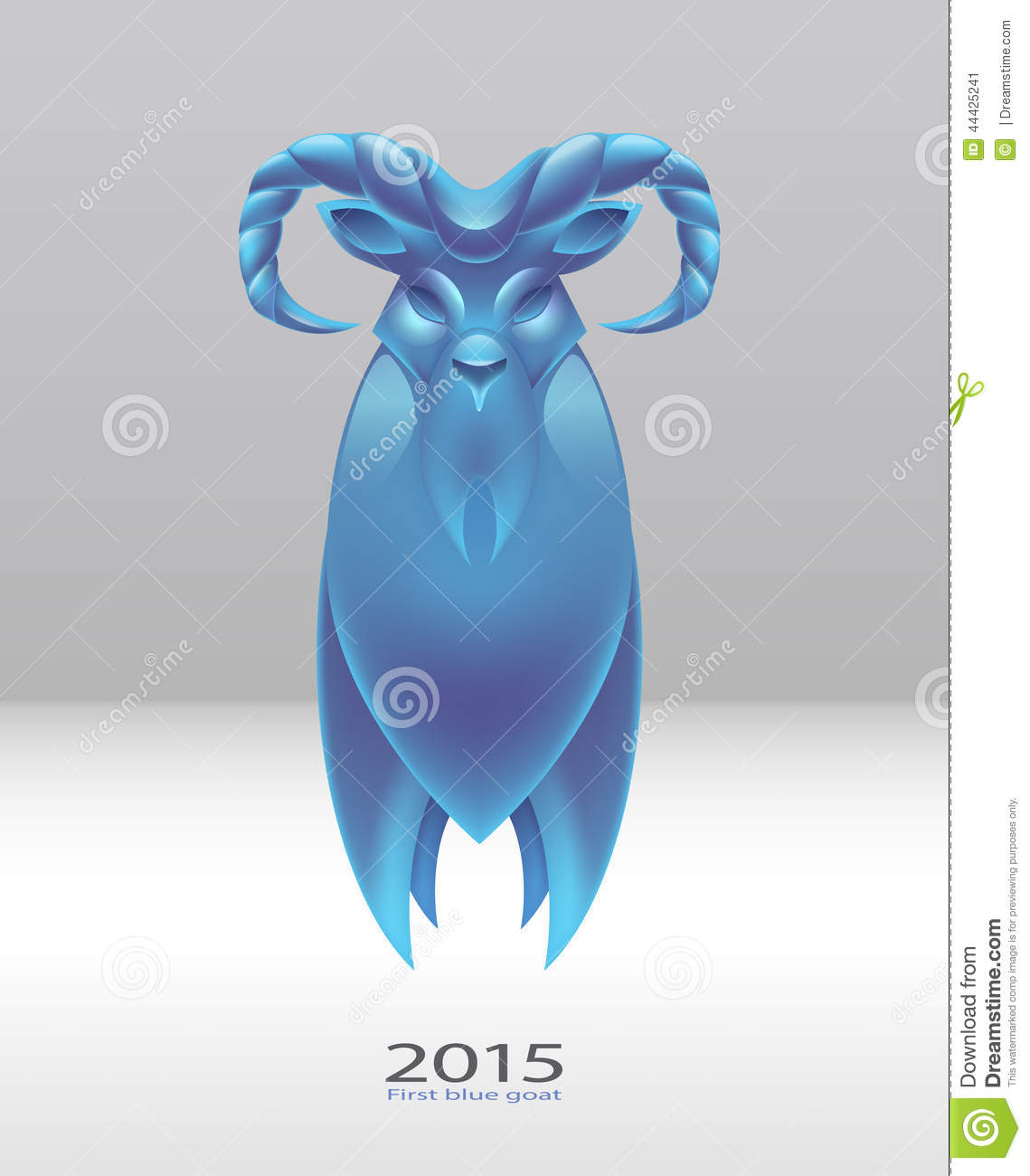 logo blue goat to a new 2015 stock vector