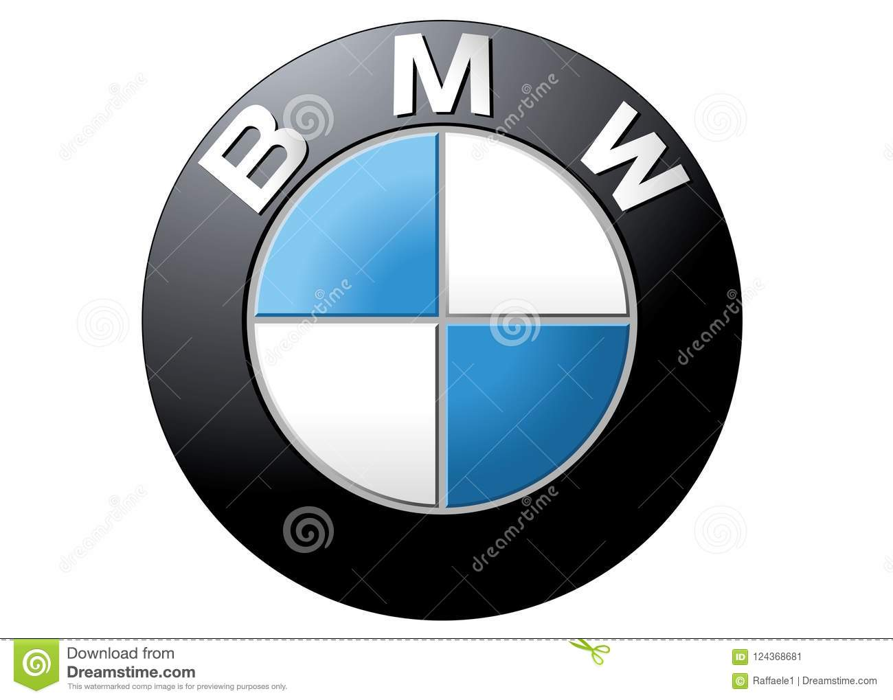 logo bmw editorial photo illustration of color black 124368681 rh dreamstime com bmw vector logo download bmw performance logo vector