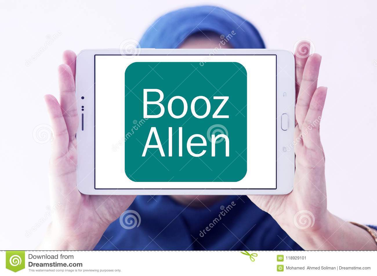 Booz Allen Hamilton Company Logo Editorial Photo Image Of