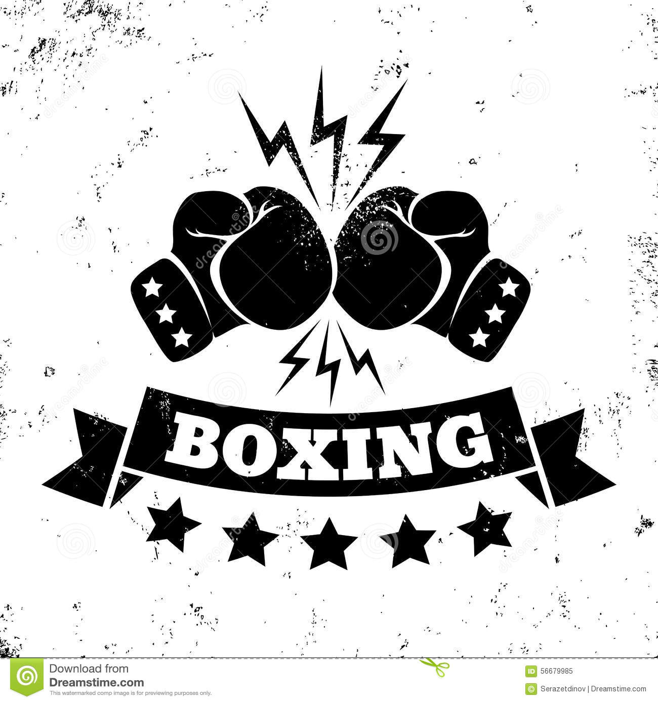 logo for a boxing stock vector image 56679985