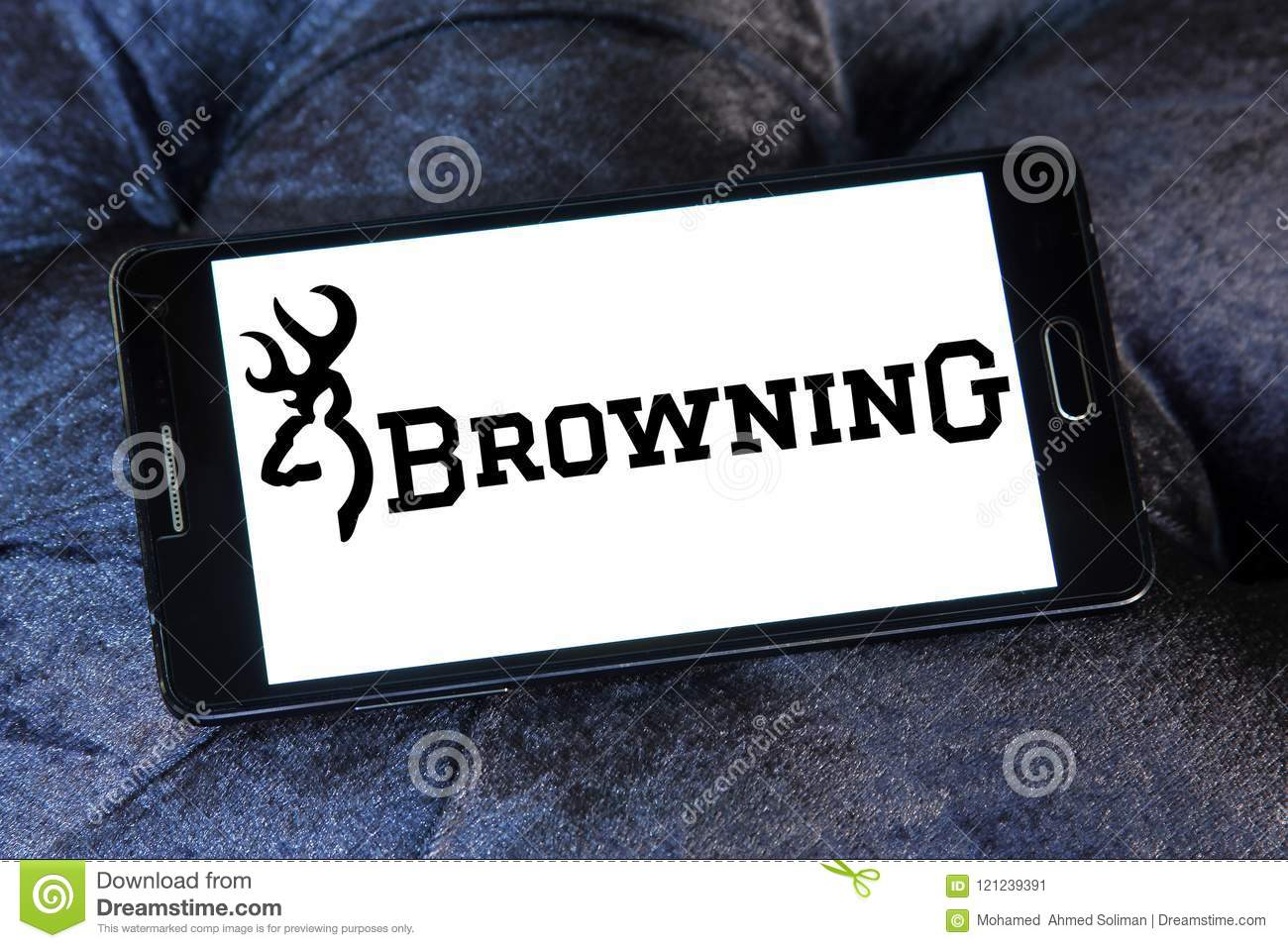 Browning arms company logo editorial image. Image of knives.