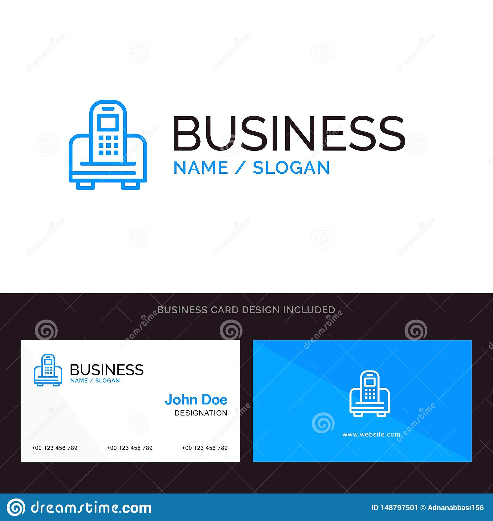 Logo and Business Card Template for Device, Mobile, Cell, Hardware vector illustration