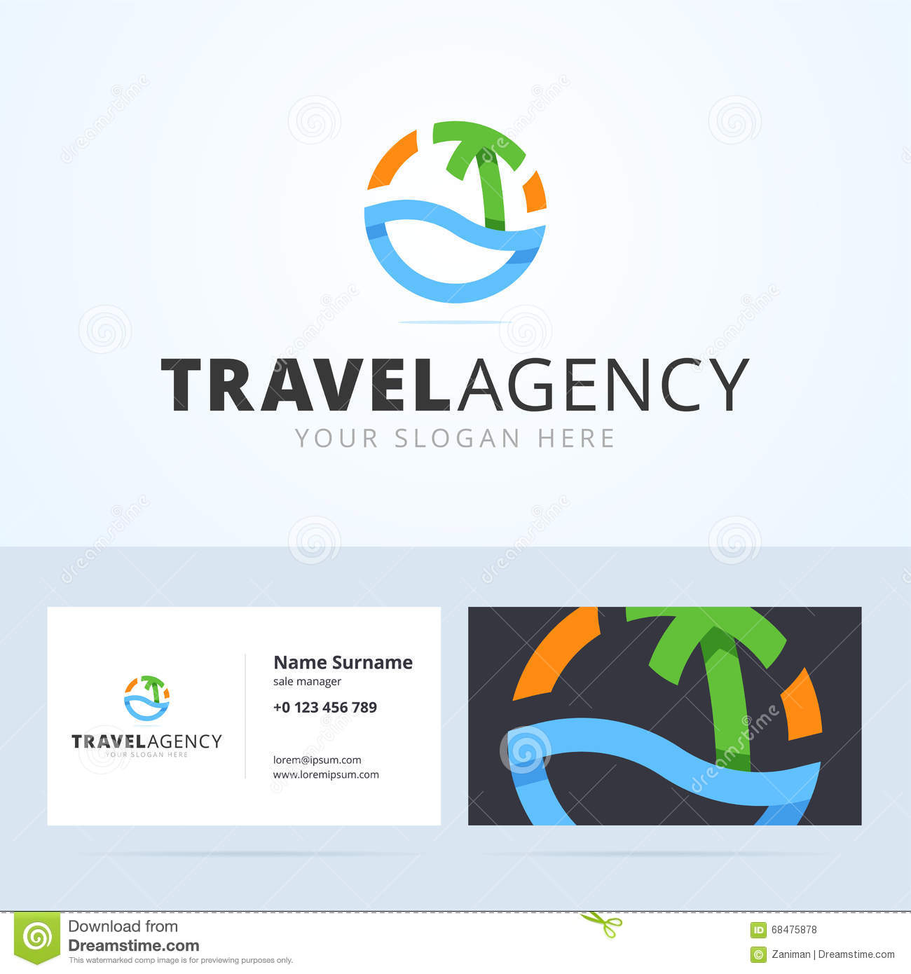 Logo and business card template for travel agency stock vector royalty free vector download logo and business card template for travel magicingreecefo Choice Image